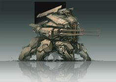 ProgV is one of my favorite mech artists and I really love this heavy-set hexapod he created