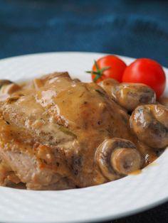One Pot Braised Chicken & Mushroom Dinner