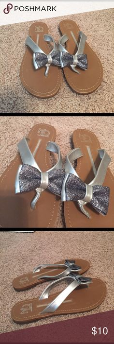 NWOT New Directions Glitter Bow Sandals! NWOT New Directions Glitter Bow Sandals! Size: 7.5! new directions Shoes Sandals