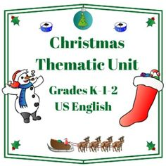Very Busy Teachers presents this Christmas thematic unit for Grades 1-2 and advanced learners in kindergarten on Teachers Pay Teachers.  39 pages of worksheets and activities. http://www.teacherspayteachers.com/Product/Christmas-Thematic-Unit-Primary-for-Very-Busy-Teachers-314215