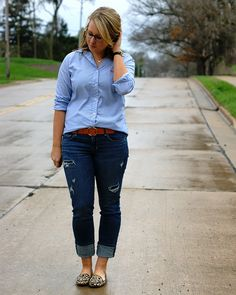oxford, distressed denim, leopard
