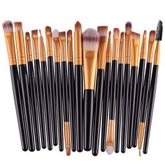 20pcs Professional Makeup Brush Set Powder Foundation Eyeshadow Eyeliner Lip…