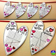 Slopeintercept Heart Pennant  Equation Math and Algebra