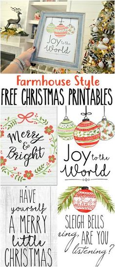 Farmhouse Decor Your Thing? Print These for FREE! Print and display our FREE farmhouse style printable decor this Christmas!Print and display our FREE farmhouse style printable decor this Christmas! Christmas Signs, Rustic Christmas, Christmas Projects, Winter Christmas, Christmas Home, Holiday Crafts, Holiday Fun, Christmas Wreaths, Christmas Ideas