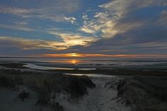 End Of Day Photos: Eastham Sunset & Truro Full Moon