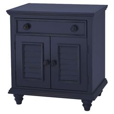 One-drawer nightstand with a bottom storage cupboard.   Product: NightstandConstruction Material: Poplar wood