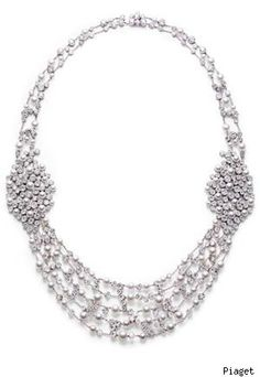 Piaget Limelight Garden Party Collection Piaget 18-carat white gold, diamond and pearl necklace