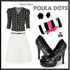 """polka dots"" by shoemegorgeous on Polyvore"