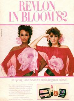 Revlon Ad with Iman and Kelly LeBrock