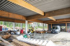 This is the workshop where we do all our woodworking projects. Custom Woodworking, Woodworking Projects, Joinery, Finland, Pergola, Workshop, Outdoor Structures, Interior, Outdoor Decor