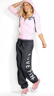 I just got a pair of these sweatpants today.  LOVE them. >> Lounge Faves - Victoria's Secret