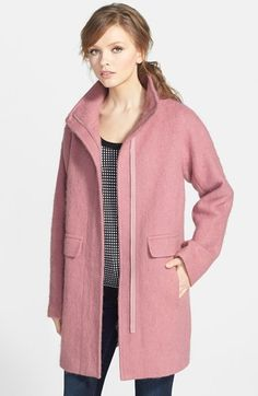 Vince Camuto Kimono Sleeve Wool Blend Coat (Nordstrom Exclusive) available at #Nordstrom COMES IN BLACK!