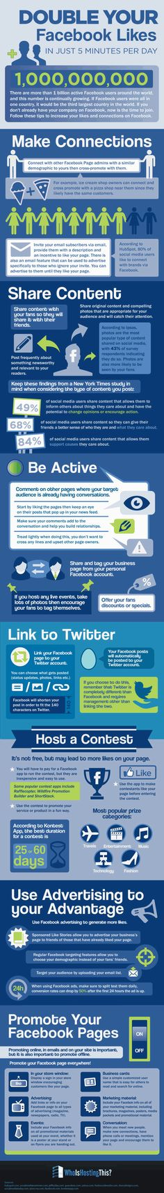 Infographic of the Week: How 5 Minutes a Day Can Help you Double your Facebook Likes! -