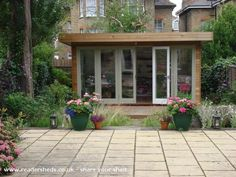 Judiths Garden Office Garden Office shed from my garden in Streatham Hill uk 12 x 8 Waltons Contemporary Summerhouse with Side Shed Originals Amanda Wathen Studio Fine. Outdoor Office, Outdoor Rooms, Shed Design, Garden Design, Garden Office Shed, Garden Sheds Uk, Shed Of The Year, Garden Cabins, Studio Shed