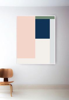 Set of 2 Abstract Geometric Prints Set. Mid Century Modern Print Set. Abstract Art Set. Pastel Mid Century Art Prints. Two Geometric Art ---FREE SHIPPING in the U.S. /// Available at The Peoples Prints Shop @ etsy.com/shop/thepeoplesprints