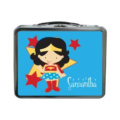 Wonder Woman Superhero Personalized Lunch Box by sassyalice, $25.00