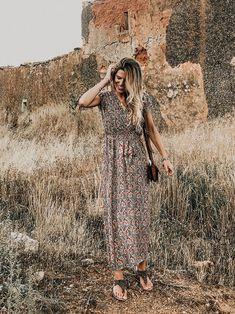 Vestido Largo Boho Paisley Ropa Moda Vestidos