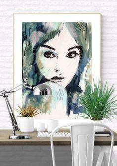 Female-portrait-art-print-Its-a-mans-world-2017-kate-fisher