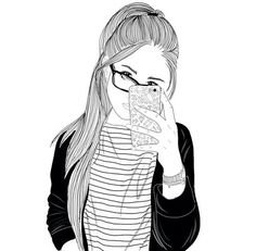 indie girl drawing - Google Search