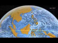 Ocean surface currents.