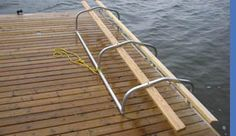 Kayak Accessories Pvc Dock Side Cradle - The easy way to get in and out of your kayak! Kayak Rack, Kayak Storage, Kayak Boats, Canoe And Kayak, Kayak Paddle, Kayak Equipment, Lake Toys, Floating Dock, Lakeside Living