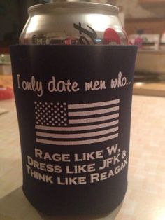 Rage, Dress, Think Koozie from FutureFirstLady.net.