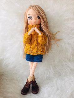 Crochet Doll Pattern, Crochet Dolls, Knit Crochet, Crochet Patterns, Crochet Hats, Old Sweater, Sweaters, Doll Tutorial, Soft Dolls