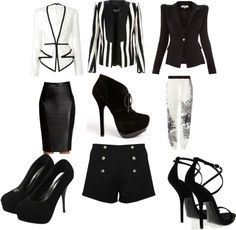 """""""Black and White Affair"""" by chalima-go-getter-thompson ❤ liked on Polyvore"""