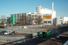 """The """"Shredded Wheat"""" factory, Welwyn Garden City. by John Partridge, via Geograph John Partridge, Places In England, London Transport, Famous Landmarks, Old Photos, New York Skyline, Past, Street View, Architecture"""