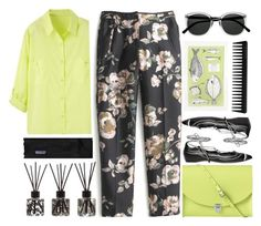 """""""Printed Pants Lace Up Flats"""" by jiabao-krohn ❤ liked on Polyvore featuring J.Crew, The Cambridge Satchel Company, Daniele Michetti, Retrò, Biba, WitShop, GHD, Patagonia, Summer and Spring"""