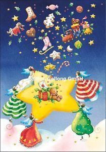 Doppelkarte Grußkarte Nina Chen * Engel mit Stern & Lebkuchen * Weihnachten in Business & Industrie, Großhandel & Sonderposten, Büro- & Schreibwaren (Posten), Papier, Büro- & Schreibwaren | eBay