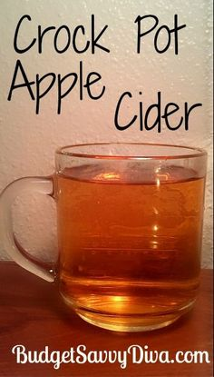 Crock Pot Apple Cider.  Are you kidding?