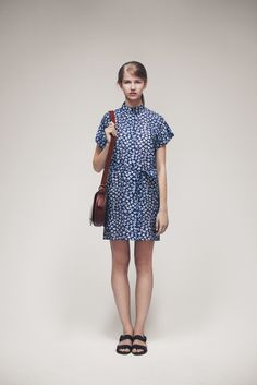 Viva Dress and Small Buckle Saddle Bag | Samuji SS15 Classic Collection