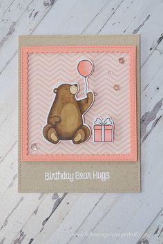card  critters bear baloon  balloons MFT Birthday Bears | by followingmypapertrail Die-namics #mftstamps MFT bear Bearcard