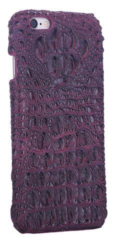Amazon.com: iCASEIT Genuine Leather iPhone Case - Genuine, Unique & Premium for iPhone 6 - Crocodile Head Pattern - AMETHY: Electronics