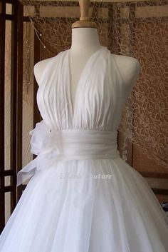 Retro Inspired Tea Length Wedding Dress Vintage by EllanaCouture. , via Etsy.