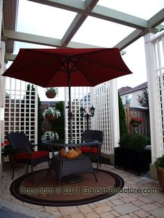 Pergola on a patio in Toronto