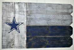 Dallas Cowboys Outdoor Wooden Flag by ARepurposedPurpose on Etsy