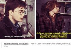 😂 deaths invisibility cloak.