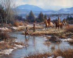 """Martin Grelle """"Trappers in the Wind Rivers"""""""