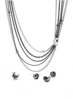 Pandora Necklace Concept - rock and roll edge!...2 more chains left and its done!!! Cant wait to wear it!