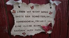 "Keramikschild ""Schmetterling"" von Landei-Keramik auf DaWanda.com"