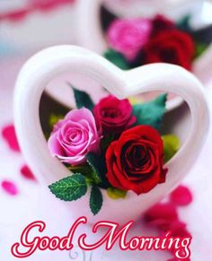 Good Morning Beautiful Gif, Good Morning Roses, Good Morning Texts, Good Morning Photos, Good Morning Good Night, Morning Quotes, Heart Pictures, Beautiful Pictures, Good Night Cards