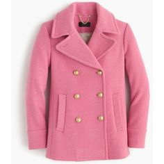 J.Crew Majesty Peacoat ($395) ❤ liked on Polyvore featuring outerwear, coats, belted wool peacoat, belted coat, j crew coats, j crew peacoat and woolen coat
