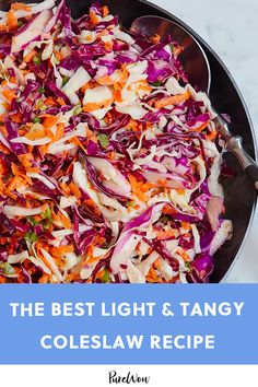 Light and Tangy Coleslaw dish food vegetarian vegetarian dinner vegetarian easy vegetarian italian food vegetarian Side Dishes For Salmon, Easy Vegetable Side Dishes, Potluck Side Dishes, Healthy Side Dishes, Side Dishes Easy, Side Dish Recipes, Vegetarian Recipes, Cooking Recipes, Healthy Recipes