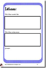 Here is a FREE idiom booklet to use With your English Language Learners