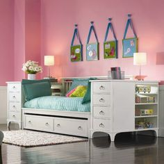 If your little one loves to have sleepovers, trundle beds are the perfect solution!