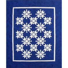 "Magic Snowflakes quilt, 48 x 60"", pattern by Fiber Legends as seen at Pattern Spot."