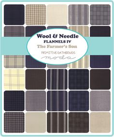 Wool and Needle Flannels by Primitive Gatherings for Moda