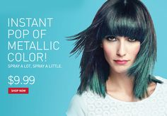 Chromalights - available at Walgreen's. Metallic hair color that washes out